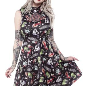 Sourpuss Ghastly Ghouls Cadet Dress